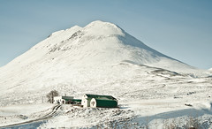 The mountain and the farm. (joningic) Tags: winter snow mountains nature landscape march iceland farm hrgrdalur