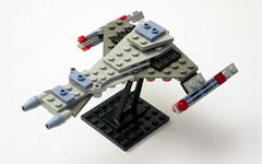 Vor'Cha Class Attack Cruiser (True Dimensions) Tags: trek star lego klingon vorcha