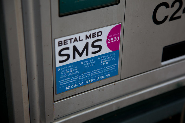 Pay with SMS parking meter