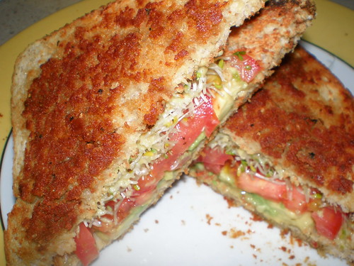 Parmesan Crusted Veggie Sandwiches