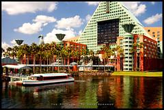 The Walt Disney World Dolphin Resort (Jeff_B.) Tags: water architecture hotel boat swan friendship dolphin disney graves resort disneyworld sheraton resorts westin whimsical swananddolphin waltdisneyworlddolphin