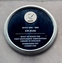 Photo of Lyceum, Liverpool black plaque