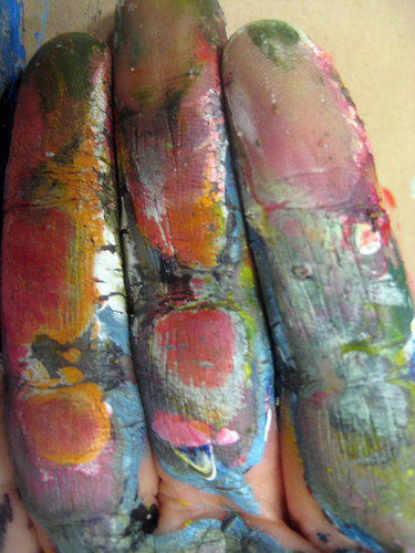 painted fingers