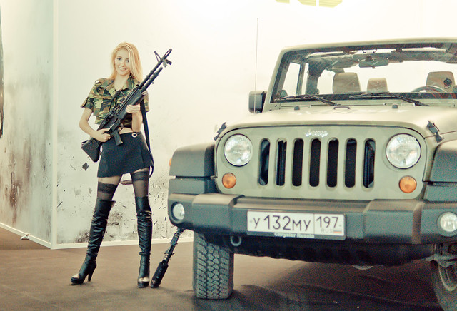 Call of Duty: Modern Warfare 3 girl at Igromir 2011