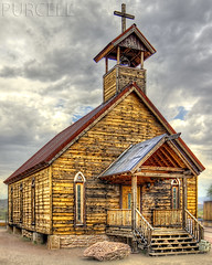 Church on the Mount (Jim Purcell) Tags: bridge summer arizona usa sunlight digital photoshop pentax zoom cloudy religion az photograph western handheld summertime christianity dslr hdr highdynamicrange topaz lightroom photomatix photomechanic tonemapping pinalcounty goldfieldghosttown pentaxk5 smcpentaxda1650mm28edalifsdm