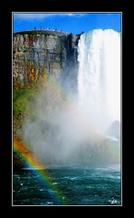 """Double Rainbow (L.A. Mathews) Tags: new york red sky mist ny color fall water clouds river anne rainbow nikon rocks pic niagra falls cliffs lesley american foam rainbows miss jpeg """"new york"""" """"nikon anne"""" d7000 missredmuse """"lesley d7000"""" ©2011 musepicture"""