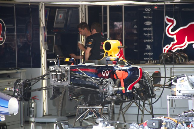 Red Bull pit garage