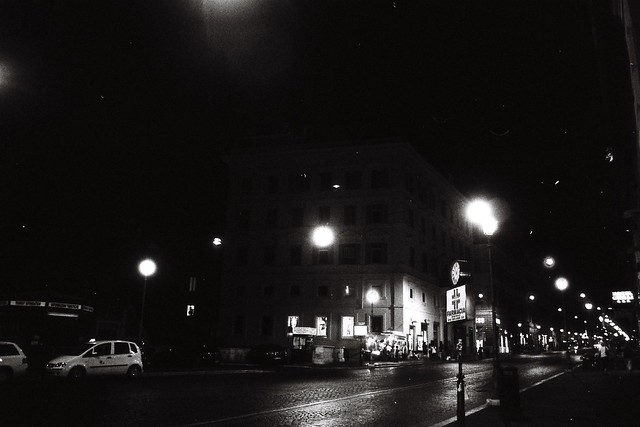 Nighttime Streets of Rome