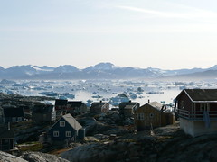 Typical East Greenland village