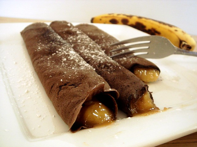 Peets Coffee + Chocolate Banana Crepes