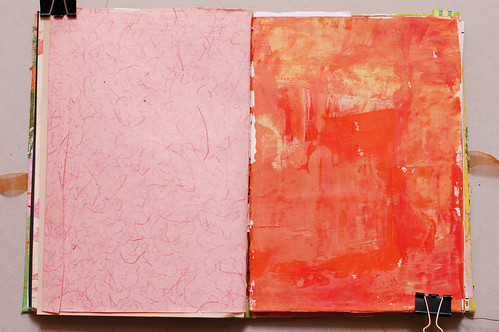 Journal of Scraps I: pink & orange