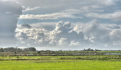 Autumn skies over the Deelen. (hwithaar) Tags: netherlands 50mm nikon day cloudy hdr friesland d90 deelen regionwide