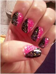 Elegant + Black + Luzes Holográficas (EvelynOliveiira) Tags: nail unha esmalte francesinha