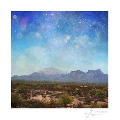 Landscape Sasco 1 (Le.Sanchez) Tags: road blue arizona sky usa mountain mountains southwest texture clouds digital photomanipulation photoshop skyscape landscape lights drive nikon skies bokeh space pima textures layer layers pinal