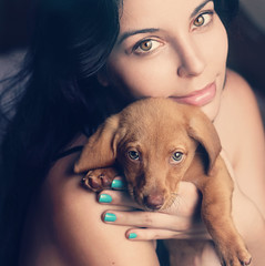 Birthday Wishes (AnnuskA  - AnnA Theodora) Tags: birthday blue light portrait dog pet green colors face azul puppy fur eyes nail adorable polish caramel doggy cuteness overload esmalte mesmerizing cuteoverload closeupportrait adoptapuppy yourheadwillexplodein543