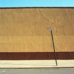 No Parking, Williamsburg, Brooklyn, Kodak Ektar 100 (Shawn Hoke) Tags: nyc 120 film brooklyn mediumformat hasselblad williamsburg urbanlandscape hasselblad501cm noparkingsign zeissplanar80mmf28 kodakektar100 epsonv500 sh