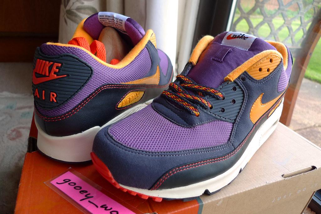 455113f16f Nike Air Max 90 'BRS' Vintage Purple / Industrial Orange - Black (314206