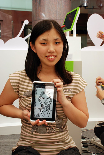 digital caricature live sketching on HTC Flyer for HTC Weekend - Day 1 - 8