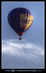 Hot air balloon (Erroba) Tags: blue sky canon fly flying belgium belgique belgi hotairballoon erlend intheair mongolfier 24105mm 60d erroba robaye