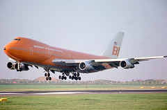 N601BN (ianossy) Tags: prestwick boeing747 airport fog braniff n601bn boeing 747