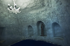 A Chapel Made of Ice (tigric (Ana Stefanovi)) Tags: art switzerland religion carving glacier zermatt christianity icecave  matterhornglacierparadise