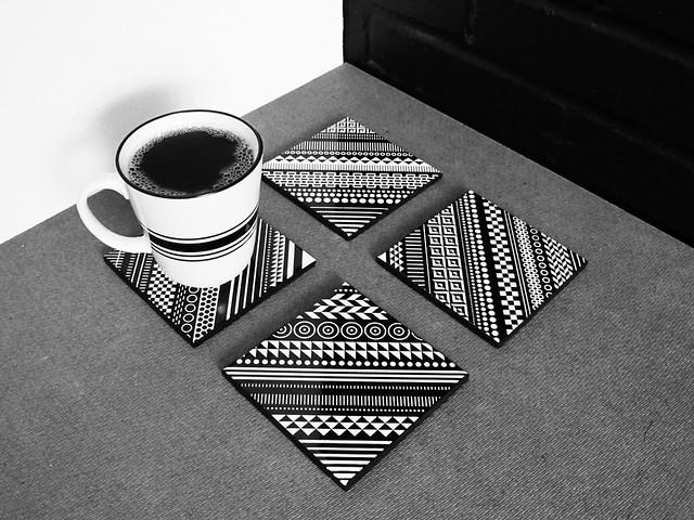 Core Deco : Ceramic Tile Coaster Set.