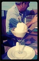 Helado de yogur con higos macerados el Monje Tradicional y @hevia53