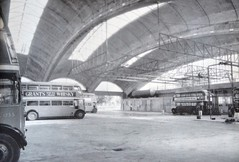 Arched Concrete Bus Garage LT (colinfpickett) Tags: street party london water diesel riverthames essex vauxhall maching shunter eastendlondon