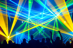 YAY for lazers. (ryan myers captures) Tags: music house georgia dance theatre ryan live athens explore observatory lasers techno lazers myers captures ghostland