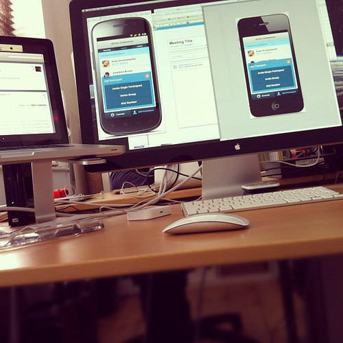 Android vs iPhone app design by Matt Hamm, on Flickr