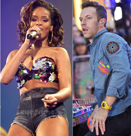 Rihanna Chris Martin Coldplay