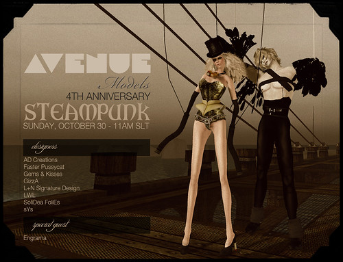 AVENUE Models 4TH Anniversary :: STEAMPUNK :: OCT 30 - 11AM SLT