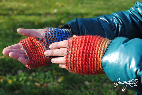 Crochet tam and mittens