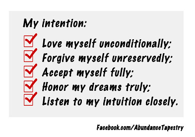 My Self Love Intentions