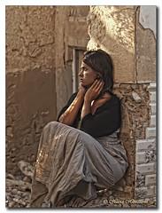 Hope (HanaHoudkova) Tags: light portrait woman luz hope donna mujer model sitting retrato femme modelo ruinas luce esperanza sentada portrt svtlo nadje rittrato sedc