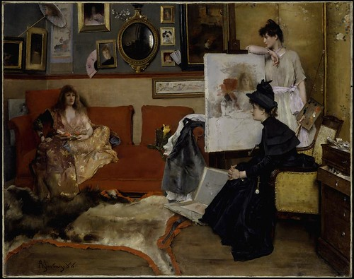 Alfred Stevens - In the Studio [1888] by Gandalf's Gallery