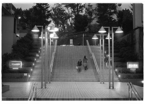 夕暮れの階段