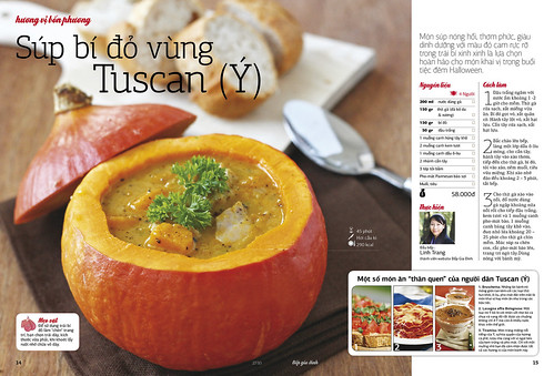My dish (chicken & pumpkin soup) on Family Kitchen Magazine