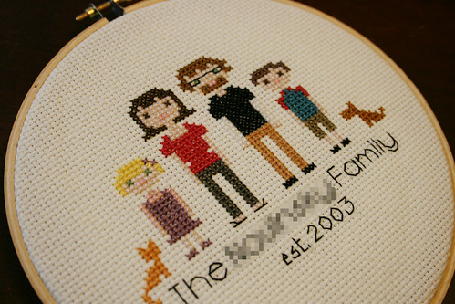 cross stitch family portrait 2
