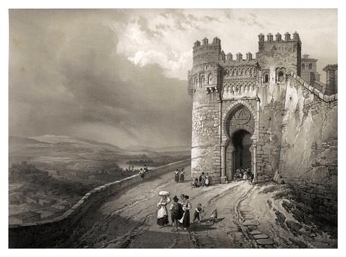 022-Puerta del Sol en Toledo-España artística y monumental..Tomo III- 1842-1850-Genaro Perez de Villa-Amil