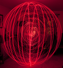 Get your orb on! (Weedall) Tags: red kitchen canon orb lp glowing practice lightpaint
