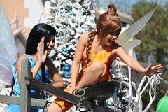 Disney Fairies Unit of the Winter Wonderland Section of the Parade (Castles, Capes & Clones) Tags: california holidays disneyland disney fawn abc anaheim mainstreetusa disneylandresort disneycharacters holidaytime disneyfairies silvermist disneyparkschristmasdayparade