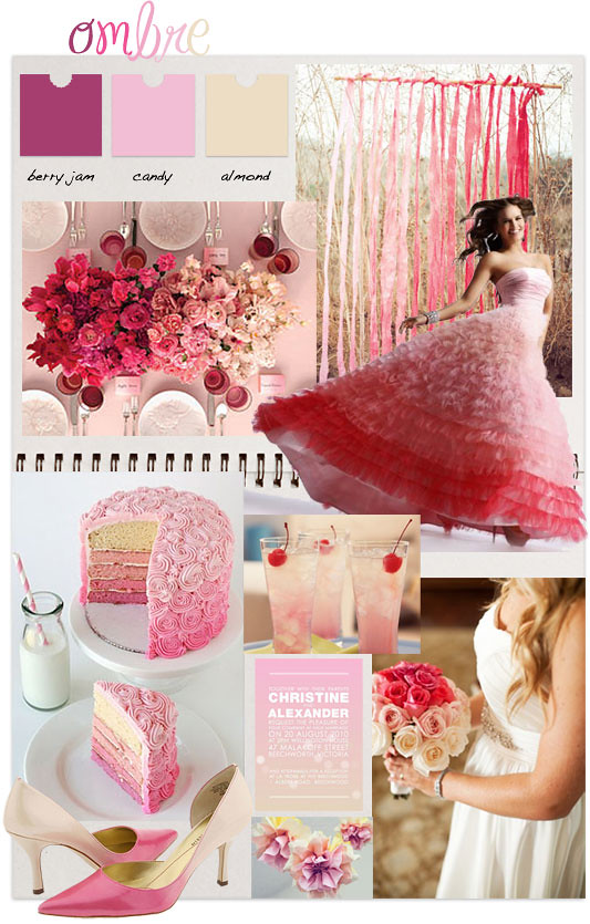 scrapbook inspiration ombre