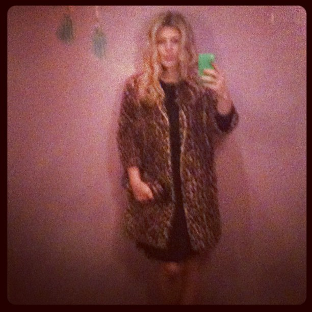 Murder Mystery Dinner... In my vintage leopard coat