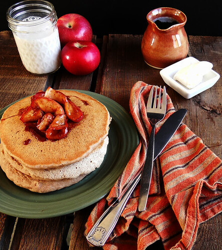 cinnamon spiced whole wheat pancakes