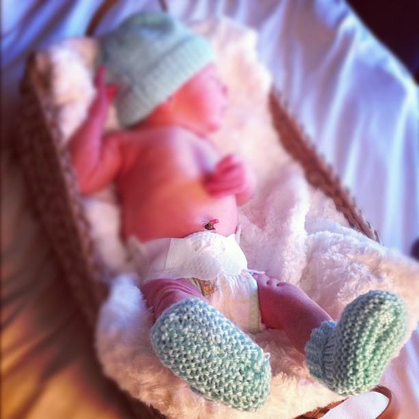 Baby Braydon wearing his dancing booties
