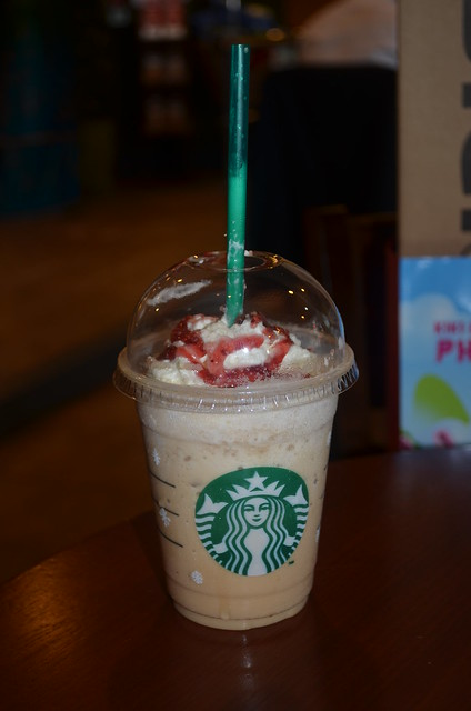 Strawberry White Chocolate Mocha!