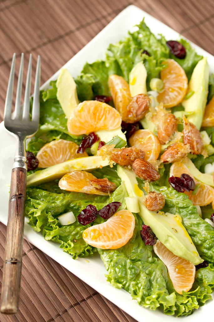 Olivado Avocado Oil Orange Salad with Candied Almonds