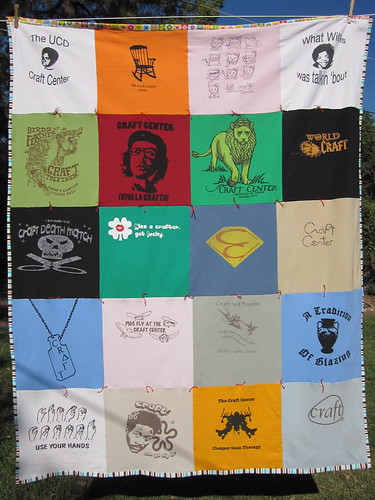 Craft Center t-shirt quilt by lorijeanine