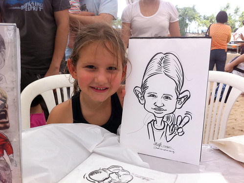 caricature live sketching for LGT Family Day - 2